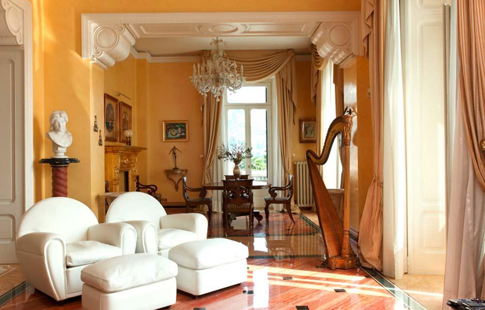 Lake como liberty villa bookcases interior decoration dotti for Mobili design riproduzioni
