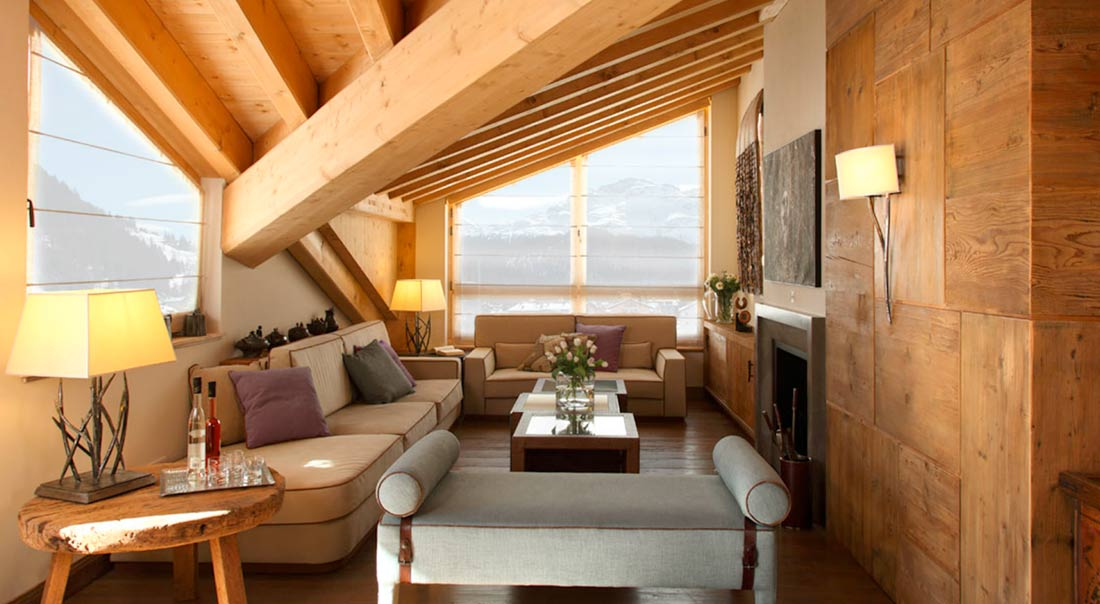 Chalet di lusso engadina interior decoration dotti for Chalet arredamento